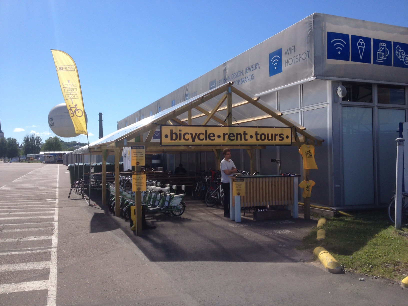 Tallinn Cruise port bicycle rental and tours office