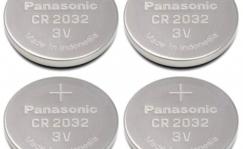 Patareid rattalambile, CR2032, Panasonic 3V