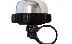 Bike bell with ring clamp.