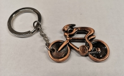 Bike Key ring, bronze