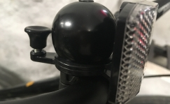 Bike bell with reflector