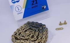 KMC Z1 Wide Gold kett, 112L