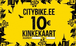 Citybike Gift card 10, 20 or 50 EUR