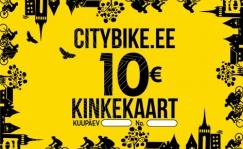 Citybike kinkekaart 10, 20 või 50 EUR