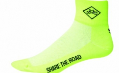 SOS Share the Road socks